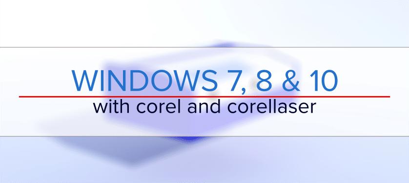windows 10 and corellaser k40