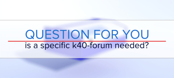 Do we need a real forum for the K40 lasers?