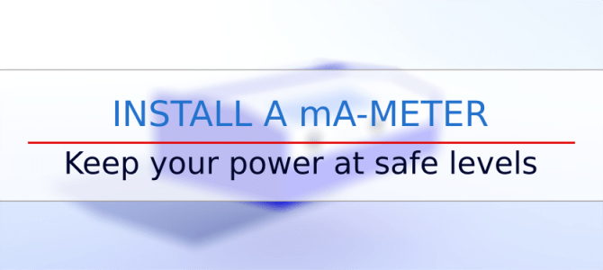 Install a mA-meter on your K40 laser