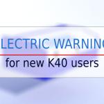 k40 laser electric warning