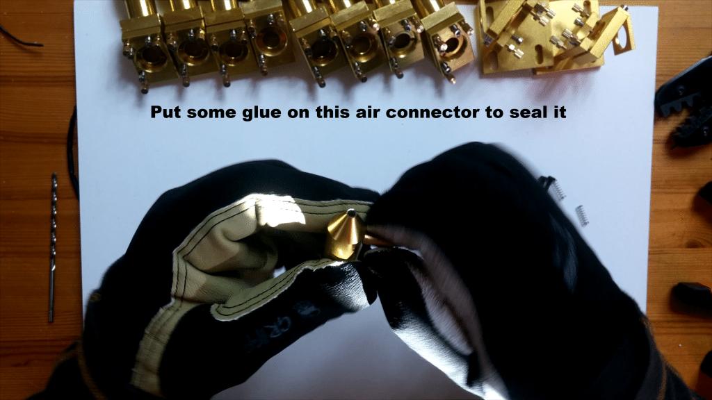 glue air assist k40 laser head
