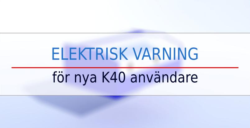 k40 laser elektrisk varning