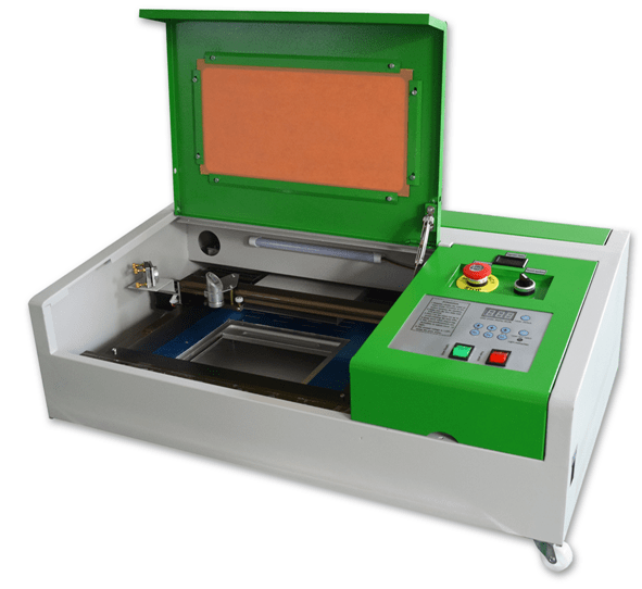 k40 laser machine green