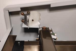k40 laser machine laser 2nd mirror test fire